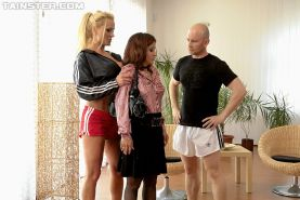 Busty babes Cindy Gold & Sharon Pink are into wet threesome groupsex