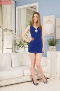 Teen babe Stella Cox takes part in an amateur undressing scene