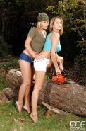 Lesbian milf Zoe L Fox has her slim feet teased by Zuzana Z
