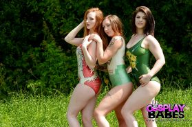 Lucia Love, Zara Du Rose and Elouise Please in a hot lesbian orgy