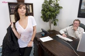 Hardcore ass fucking in office fucks shit out of Latina April O'Neil