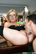 Lewd Donna Bell enjoys anal fucking and takes a cumshot on her tongue