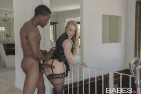 Stocking clad blonde AJ Applegate taking hardcore interracial fuck from BBC