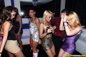 Stunning bitches are partying hard with each other while naked