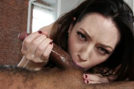 Filthy brunette MILF Sarah Shevon taking BBC in cunt and asshole