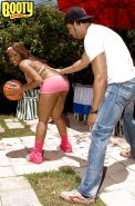 Ebony MILF Ayana Angel offering up phat booty for hardcore outdoor sex