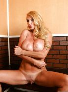 Mature Taylor Wane with huge tits teasing her pussy with her panties