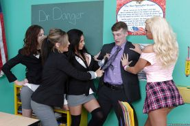 Blonde schoolgirl Summer Brielle has her big tits licked out