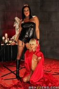 Tough Tory Lane has some fetish lesbian fun with her submissive friend