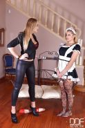Lesbians Maisie Rain and Kayla Green explore fetish side in BDSM action