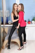 Young hotties Inna and Abbie toying each others filthy asshole