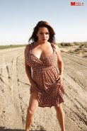 Big boobed Latina Milf Monica Mendez unleashes her juggs and nipples