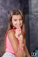 Teenage Melena Maria strips and drinks in her bathroom shower