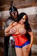 Busty brunette Romi Rain going ass to mouth during hardcore cosplay fuck