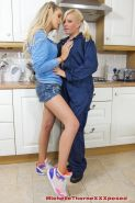 Michelle Thorne and her lesbian friend are having fun with toys