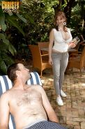 Big titted cocksucker Christy Marks having hot hardcore sex outdoor