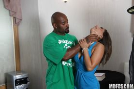 Naughty MILF Reena Sky sucks and fucks a huge black boner