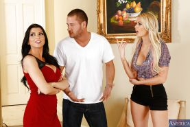 Threesome fuck featuring reality girls Gigi Allens and Romi Rain
