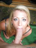 Mature Chelsea Zinn fucks deep in her mouth on the fresh air