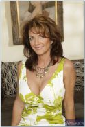 Naughty MILF with shapely boobs Deauxma takes off underwear