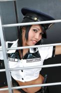 Amateur Asian Policewoman Rose strips off her police uniform