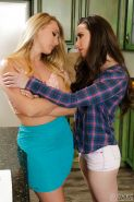 Lesbians AJ Applegate and Casey Calvert undressing for 69 sex