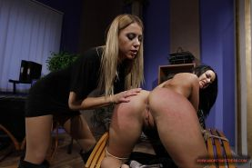 Sexy babe with hot ass Barbie Pink gets bound and tortured by Nikky Thorne