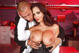 Ava Addams enjoys hardcore fucking and gets her big tits glazed with cum