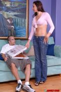 Hott ass gal with round jugs has some hardcore twatting fun with a pizza-guy