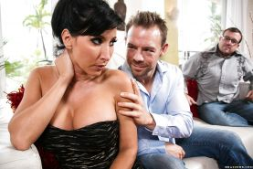 Dirty wife with big tits Lezley Zen loves cheating on her cuckold