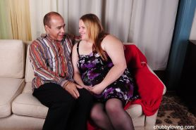 Close up SSBBW scene features a fatty with big tits Haley and her man