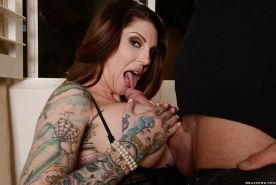 Dirty mom Darling Danika gives great head before have asshole ravaged