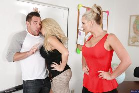 Milf teacher Phoenix Marie and her student Summer Brielle have threesome