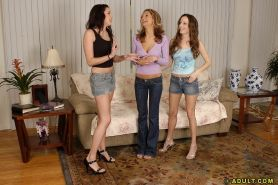 Lesbian milf Amy is shared between sexy Gianna Michaels and Sarah