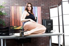 Thick MILF Alison Tyler with huge fat tits gets fucked in the office