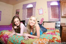 Teen babes Madison Scott and Hailey Young masturbating pussy