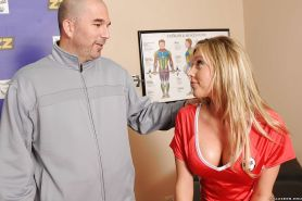 Tits in sports babe Samantha Saint face fucked and shafted hard core