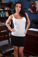 Smiley MILF with hot curves Rachel Starr undressing and spreading her legs