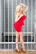 Beauty blonde Summer Brielle poses naked in the jail and spread legs