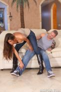 Blowjob from babe in jeans Madelyn Marie before reality hardcore