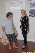 Latex milf big ass fetish scene with wonderful hardcore ending