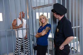 Big tits milf Nina Elle has her tight cunt fucked in prison