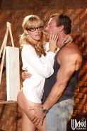 Hot MILF Jessica Drake gets her pussy fingered and boned-up hardcore