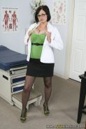 Big titted doctor babe in uniform Katie Kox stripping in the hospital