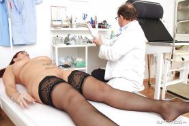 Amazing mature Darja reaches multiple orgasms in the hospital