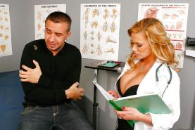 Shyla Stylez takes off her doctor's uniform for blowjobs and fucking
