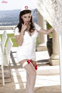 Hot nurse Taylor Vixen taking off her uniform and spreading her legs
