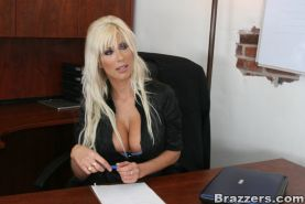 Big titted MILF pornstar Puma Swede gets fucked right in the office