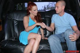 Shannon Kelly demonstrates her goods and gives a blowjob in the car