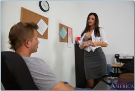 Horny teacher India Summer gives a blowjob and gets fucked hardcore